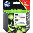 HP No 932XL & 933XL Original Ink Cartridges - Multi Pack Set of 4 BCMY