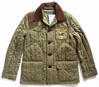 Polo Ralph Lauren Women's New Olive Green Brown Quilted Jacket Coat Medium