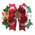 4-Layer Gingerbread Man Boutique Hair Bow