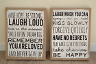 Shabby chic style hessian plaque sign hanging decoration ideal Christmas gift