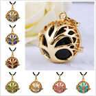 18K Gold Family Tree Cage 20mm Belly Pendant Pregnancy Necklace Musical Bola