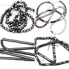 1Strand Gemstone Beads Black Hematite Spacer Beads Jewelry Finding Many Size