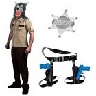 WOLF COP MENS HALLOWEEN FANCY DRESS WOLFCOP WEREWOLF FILM MOVIE SHERIFF POLICE