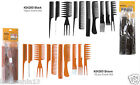 10 PCS PROFESSIONAL SALON HAIR STYLING HAIRDRESSING PLASTIC BARBERS COMBS SET