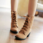 Fashion New boots women winter shoes warm red black Faux Suede High Heel Lace up
