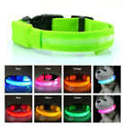 Pet Dog LED Light Flash Night Safety Waterproof Nylon Collar Adjustable