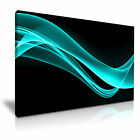 MODERN ABSTRACT ART Teal Illusions Canvas Framed Print ~ More Size