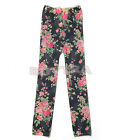 Stylish Style New Kids Stretch Tights Leggings Rose Pants Printed Girls Trousers
