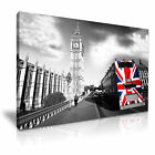 CITYSCAPE Europe UK LONDON BUS 12 1L Canvas Framed Printed Wall Art ~ More Size