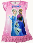 Disney Frozen Elsa Anna Children Kids Party Dress Girls Pajama Skirt 3-10Yr Pink