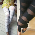 Womens Sexy Black Gothic Punk Bandage Strap Leggings Tights Pants Skinny Pants