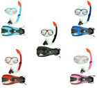 Adults 3PC Mask + Snorkel + Fins/Flippers TBF Snorkelling Diving Full Combo Set
