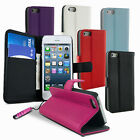 LEATHER WALLET FLIP SERIES CASE COVER FITS APPLE IPHONE 5 FREE SCREEN PROTECTOR