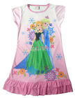 Disney Frozen Elsa + Anna Children Kids Girls Dress Pajama Skirt 3-10 Years Pink