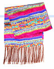 Real 100% Silk Scarf 2-Layer Floral and Stripe Prints   FJUS
