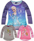 Girls Official Disney Frozen Top Kids Princess Elsa T Shirt New Age 4 5 6 8 yrs