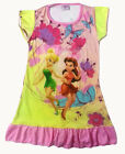 Disney Tinkerbell Rosetta Children Kids Girls Dress Pajama Skirt 3-10 Years Pink
