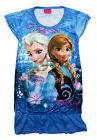 Disney Frozen Elsa & Anna Children Girls Kids Pajama Night Dress Skirt 3-9Y Blue