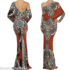 SPICE MULTI WAY Reversible PLUNGING Convertible MAXI DRESS Off Shoulder S M L
