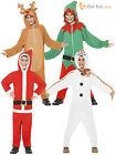 Age 4 - 12 Kids Christmas Onesie Fancy Dress Costumes Boys Girls Childrens