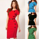 Women Sexy Candy Sale Ball Gown Stretch Bodycon Pencil Wrap Formal Evening Dress