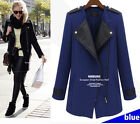 Style Women Oversize Zip UP Jacket Long Coat Crdigan Blazer PluS size