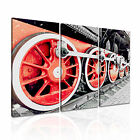 TRANSPORT Vehicle Train 2 Canvas 3A Framed Printed Wall Size ~ 3 Panels