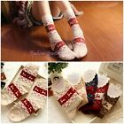 Women's/Girl's Winter Socks Christmas Gift Warm Wool Cute Snowflake Deer