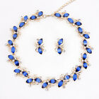 Resin Necklace Gold Plated Wedding  Swarovski Element Crystal Jewellery Set