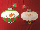 Внешний вид - Santa Claus or Snowman Ornament Shaped Wood Wall Door Sign Party DECOR New