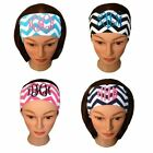 Custom Embroidered Chevron Headband (You Choose colors and Fonts)
