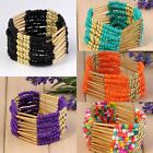 "Fashion Bohemian Beaded Womens Multilayer Wrap Bracelet Bangle Jewelry Gift 6""L"