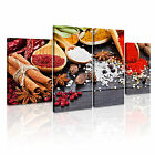 INDIAN SPICE HERB PEPPER Canvas Framed Print Restaurant Deco ~ 4 Panels