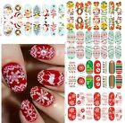 Luminous Glow Full Wraps Christmas Santa Nail Art Stickers Tips Easy DIY Decals