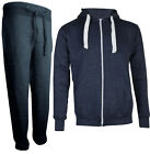 New Mens Jogging Tracksuit Warm Tracksuit Hooded Jogging Suit CHARCOAL GREY