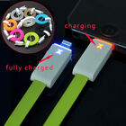 LED Lightning 8 Pin USB Charger Data Cable Flat Cord For iPhone 5 5S 5C newly
