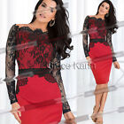 Wholesale Womens Vintage Celebrity Cocktail Lace Pencil Evening Party Dress 5Sz