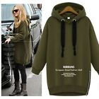 Korean Women Autumn Winter Hoodie Sweater Pullover Outerwear Jumper Jacket Coat