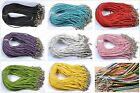 10Pcs Real Leather Adjustable Braided Necklace Charms Findings String Cord 480MM