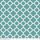 QUATREFOIL  - TEAL - RILEY BLAKE 100% COTTON FABRIC