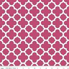 QUATREFOIL  - RASPBERRY RED - RILEY BLAKE 100% COTTON FABRIC