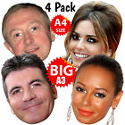 X-FACTOR JUDGES 4 PACK BIG Face Masks A3 BIGhedz & A4: GARY BARLOW PERSONALISED