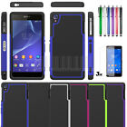 Heavy Duty Rugged Impact Hybrid Hard Case Cover+Film For Sony Xperia Z3 D6653
