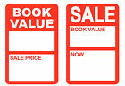 Внешний вид - Bright Red Book Value Price Point Stickers Sticky Labels Tags 1 x 1.5 inches