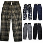 Mens Fleece Lounge Bottoms Winter Pjs Pants New Casual Trousers Size S M L XL