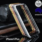 Luxury Diamond Bling Rhinestone Metal Bumper Case for iPhone 6 Plus & 6 Plus S