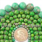 6-10mm Smooth Round Apple Green Imperial Jasper Gemstone Spacer Beads Strand 15""
