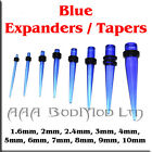 1 x Blue Taper / Ear Stretcher. 1.6mm to 10mm