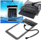 """100% WATERPROOF BEACH BAG SLEEVE TABLET CASE SAND PROOF + SECURE SEAL 8"""" POUCH"""
