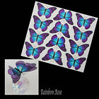 Transparent Film Butterfly #12F PURPLE BLUE size 5 UNCUT 4, 6, 18 suncatchers 3D
